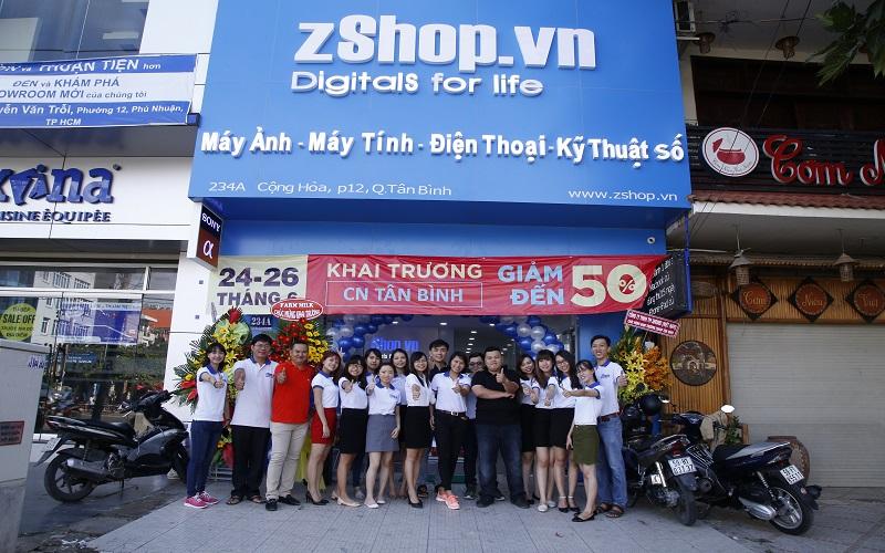 Hình ảnh khai trương một cửa hàng của Zshop