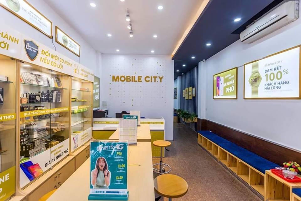Hình ảnh bên trong một cửa hàng của Mobilecity